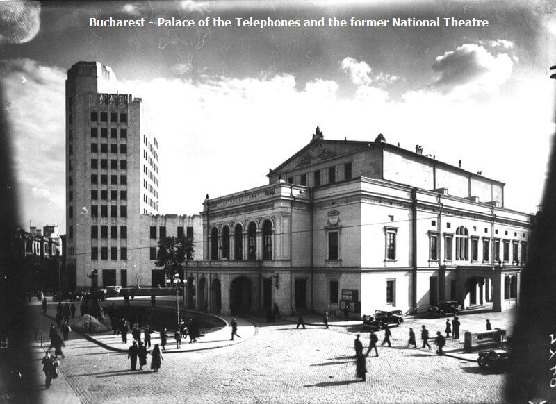 Palatul Telefoanelor și vechiul Teatru Național