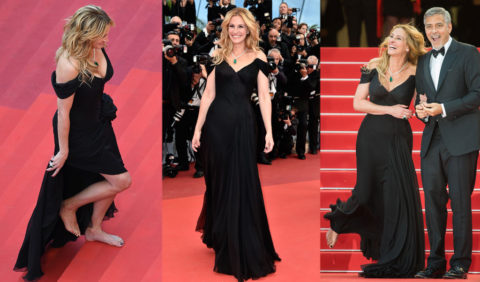 julia roberts desculta la cannes